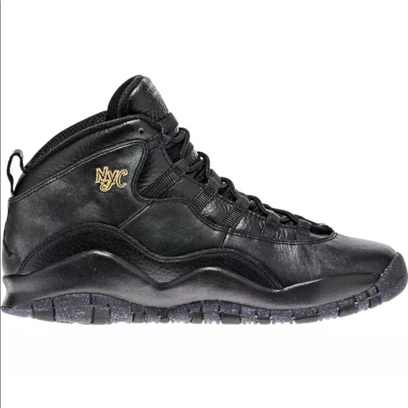 eae523a9b373 AIR JORDAN RETRO 10 X NYC BRAND NEW BLACK AND GOLD
